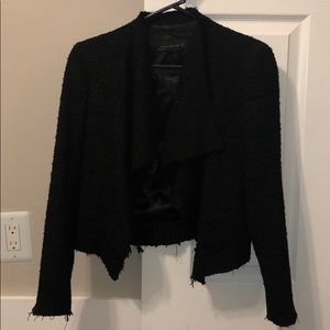 Zara Black Tweed Blazer NWOT